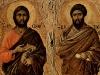 Duccio di Buoninsegna; apostołowie Jakub i Bartłomiej (1308-11)