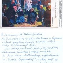 Kartka ze zbiorów Barbary Tarkowskiej